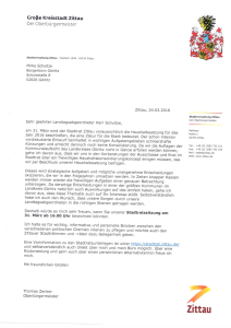 Einladung zur Stadtratssitzung der Stadt Zittau
